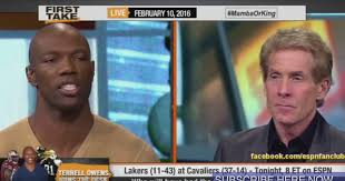 Terrell Owens Meme - terrell owens shoots down skip bayless on first take daily snark