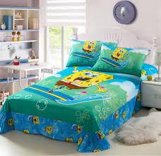 spongebob squarepants green prints twin full single size doona bed