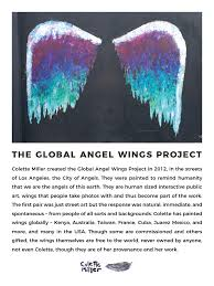 the global angel wings project created in 2012 to remind humanity