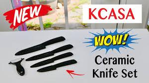 kcasa 5 piece ceramic knife set review youtube
