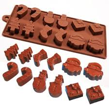 christmas chocolate silicone christmas chocolate moulds with great designs