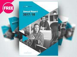 free brochure annual report template psd by free download psd