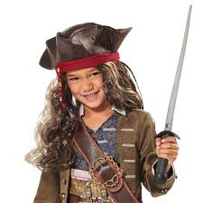 jack sparrow pirate hat and wig for kids pirates of the