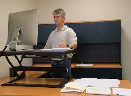 Sitting And Standing Desk by Stand Up At Work And Be Counted Uq News The University Of