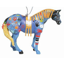trail of painted ponies blue medicine ornament retired new