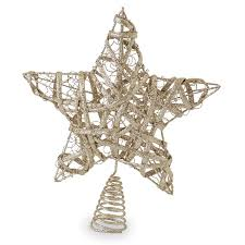 gold glitter tree topper mud pie