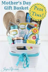 Mother S Day Gift Basket Mother U0027s Day Pedicure Gift Basket Ideas Joy U0027s Life
