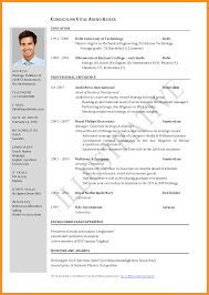 Fill In The Blank Resume 6 Cv In English Form Reporter Resume Example Of Resume In