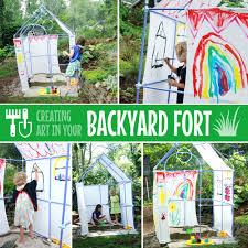 create art in your backyard fort fort magic