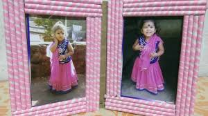 how to make photo frame with waste paper 2 kids all art u0026 craft