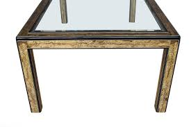 glass parsons dining table bernhard rohne acid etched bronze mastercraft glass parsons dining