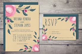 wedding invitations rsvp boho wedding invitation rsvp invitation templates creative