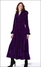 purple womens long hooded velvet winter coat womens winter coats