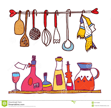 kitchen and wine accesorries funny design stock photo image