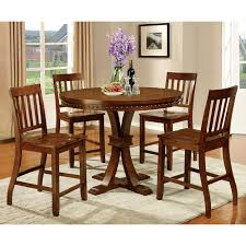 furniture of america fort wooden counter height round dining table