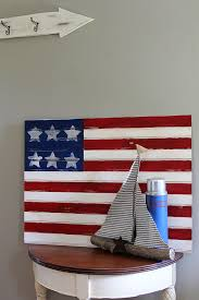 flag decorations for home easy american flag craft house of hawthornes