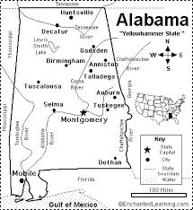 louisiana state map key alabama map quiz printout enchantedlearning