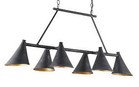 Currey Lighting Fixtures Culpepper Rectangular Chandelier Currey Company