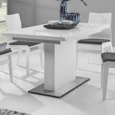 White Glass Extending Dining Table Modern Glass Dining Kitchen Tables Allmodern