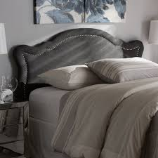 Fabric King Headboard Baxton Studio Avery Modern And Contemporary Grey Fabric King