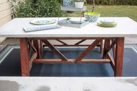 ana white x base outdoor concrete table and bench set diy projects