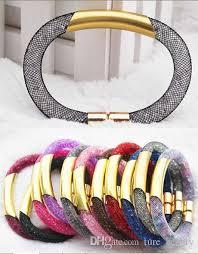 mesh bracelet swarovski images 2018 woven mesh bracelet fashion bracelet network swarovski new jpg
