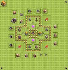 coc village layout level 5 farming base plan layout design th 5 clash of clans town