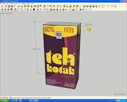 Teh Botol Sosro Kemasan Karton tutorial 3d model teh kotak