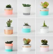 copper dipped cement plant pot by sort notonthehighstreet com
