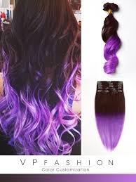 mermaid hair extensions brown to purple mermaid colorful ombre indian remy clip in hair