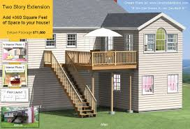 Homes Plans With Cost To Build Two Story Home Extension 360 Sq Ft