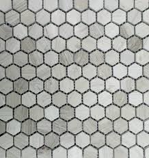 gray wood marble 1 hexagon polished mosaic tile 11 sheets