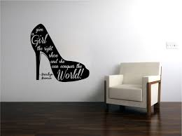 wall decals stickers home decor home furniture diy marilyn monroe shoes quote vinyl sticker decal for glass or wall hi heel