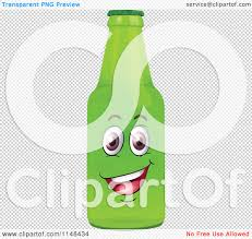 cartoon beer no background cartoon of a happy green beer or soda bottle mascot royalty free