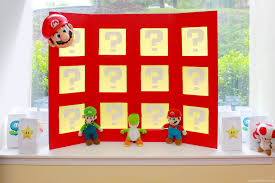 super mario bros inspired party power up panel punch board