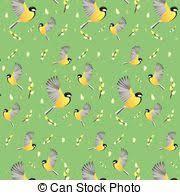 vector illustration of spring wallpaper seasonal multicolour