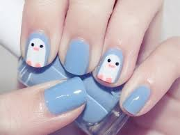 penguin cute nail designs easy nails design manicure girls do it