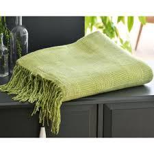 plaid jeté de canapé plaids et jetés de canapé vert 3suisses