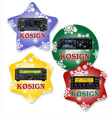 radio callsign tree ornaments ham ham radio