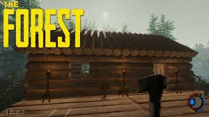 Cool Cabin Data Plays The Forest Ep 11 Custom Log Cabin Youtube