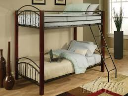 Metal Bunk Bed Frame with Bedroom Exquisite Twin Over Twin Metal Bunk Bed With Ladder In