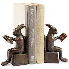 bunny bookends rabbit bookends home kitchen