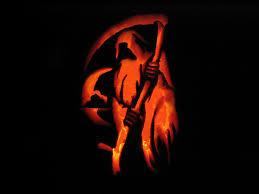Scary Halloween Skeleton Grim Reaper Spooky Halloween 2 Pumpkins Pinterest Grim