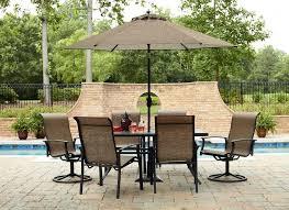Outdoor Patio Set With Umbrella Home Design Nice Outdoor Patio Dining Sets With Umbrella Home