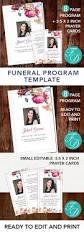 Make Funeral Programs 173 Best For Women Funeral Program Templates Images On Pinterest