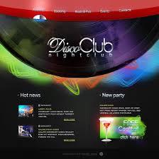 website template 17575 disco night club custom website template