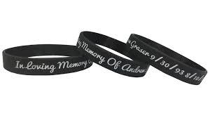 memorial bracelets for loved ones memorial wristband getwristband