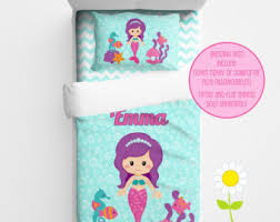 Personalized Girls Bedding by Mermaid Bedding Etsy