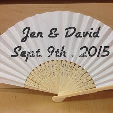 wedding souvenir white paper fan with organza bag wedding souvenir for guests