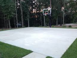 charming design concrete basketball court entracing 1000 ideas